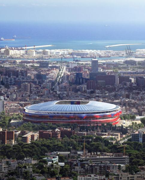 El equipo formado por Ricardo Bofill – Taller de Arquitectura y ARUP ha sido seleccionado para pasar a la segunda fase del Concurso de Arquitectura del nuevo Camp Nou