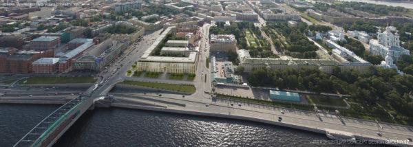"""El president de RBTA Ricardo E. Bofill va assistir al llançament de la campanya promocional de l'operació immobiliària """"Smolny"""" a Sant Petersburg, una nova icona residencial amb vistes sobre el riu Neva a la mateixa riba que el Museu Hermitage."""