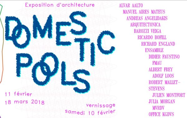 Domestic Pools, the current architecture exhibition at the Villa Noailles in Hyères, France